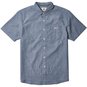 Sets Eco Woven Button Up (Harbor Blue)