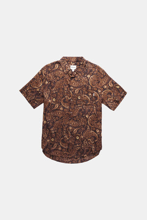 Sumbawa Short Sleeve Button Up (Henna)