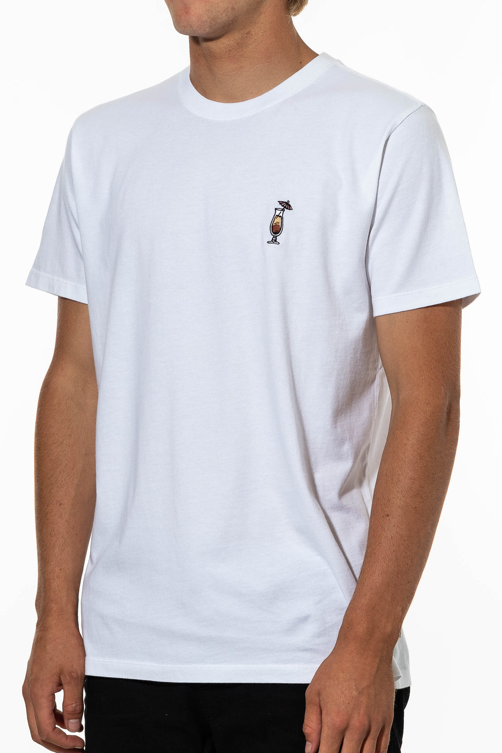 Man Tai Embroidery Tee (White)
