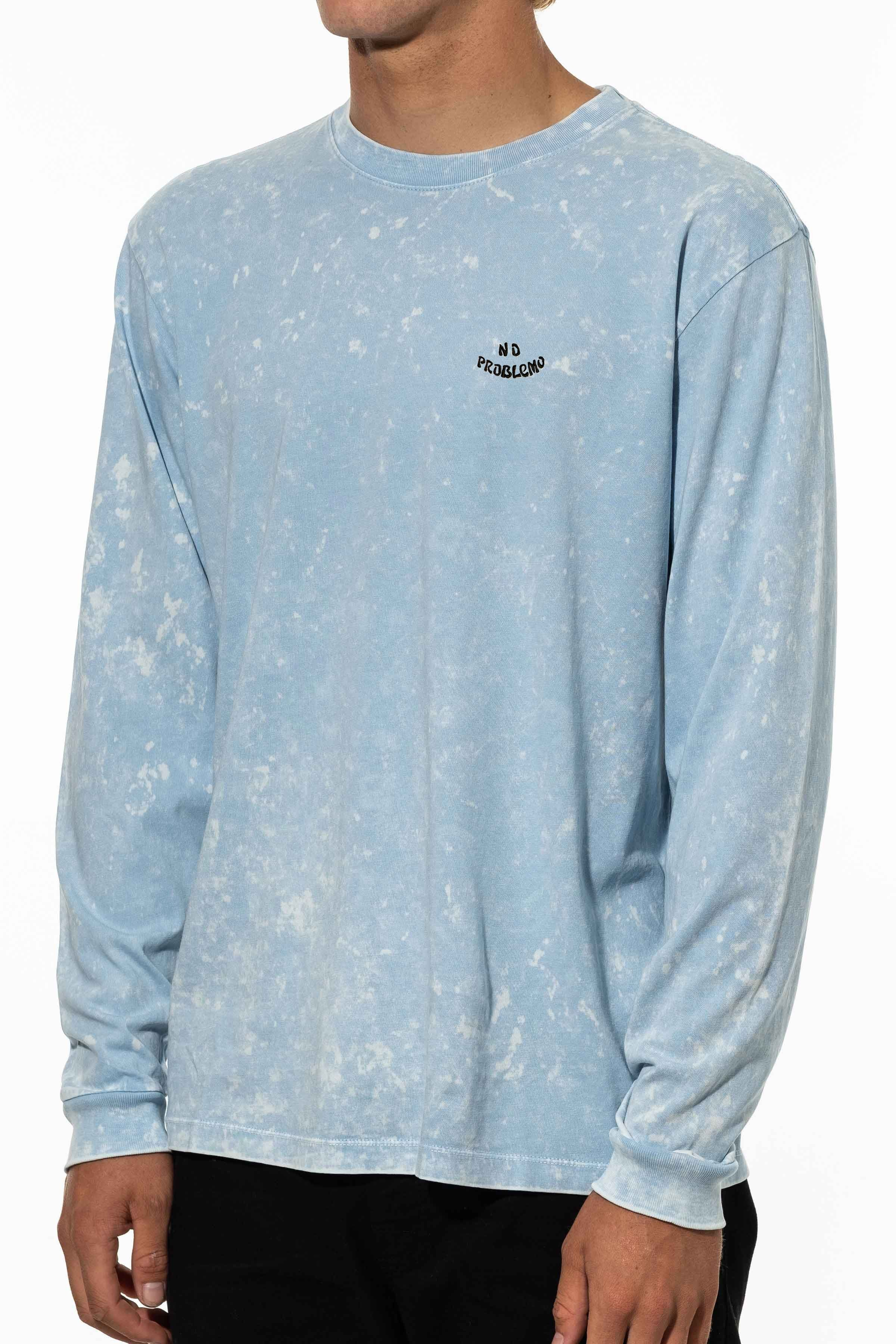 Smile Embroidery LS Tee (Sky Blue Mineral)