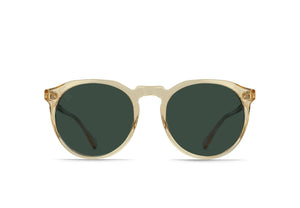 RAEN Remmy Polarized Sunglasses (Champagne Crystal / Green)