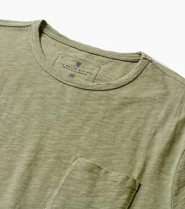 Well Worn Midweight Knit Pocket Tee (Army)
