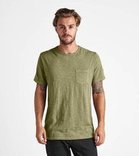 Load image into Gallery viewer, Well Worn Midweight Knit Pocket Tee (Army)