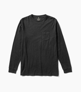Well Worn Long Sleeve Midweight Organic Knit Top (Black)