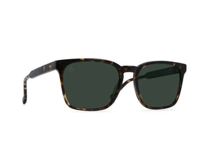 RAEN Pierce Polarized Sunglasses (Brindle Tortoise / Green)