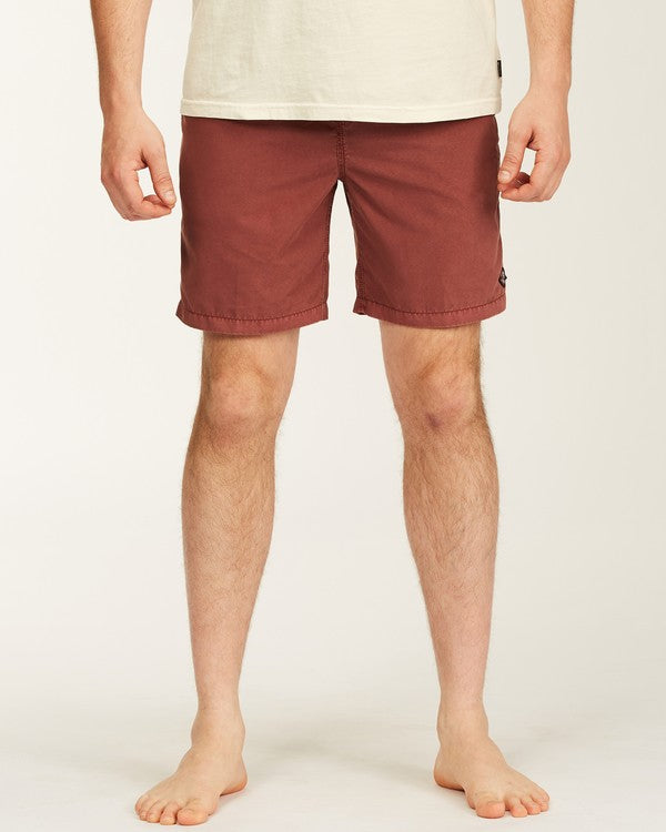 "All Day Overdyed Layback Boardshort 17"" (Brick)"