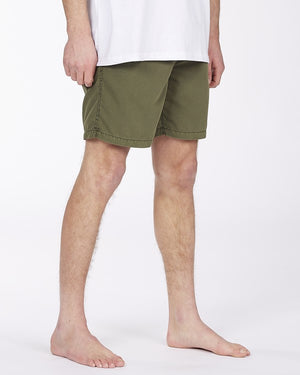 "All Day Overdyed Layback Boardshort 17"" (Military)"