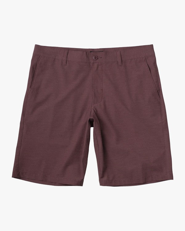 "Daggers 18"" Hybrid Chino Short (Oxblood Red)"