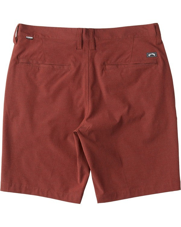 "Crossfire X Mid Submersible Walkshort 19"" (Deep Red)"