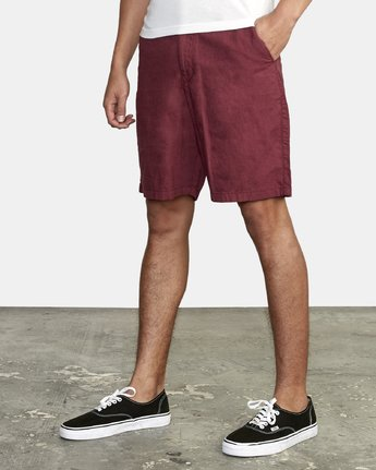"Crushed 18"" Walkshort (Oxblood Red)"