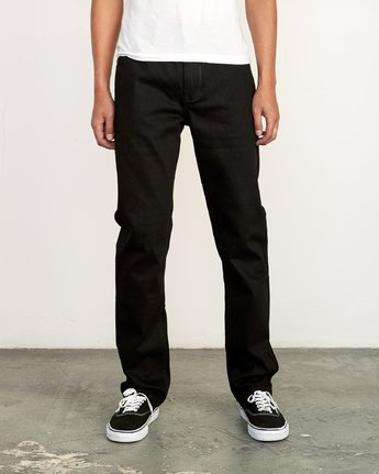 Daggers Slim Straight Jeans (Black)
