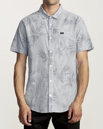 Richmond Short Sleeve Button Up (Moody Blue)