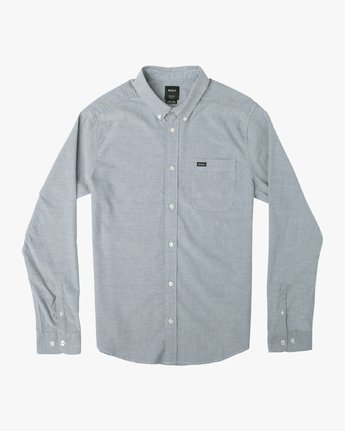 That'll Do Stretch Long Sleeve Button-Up (Distant Blue)