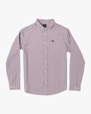 That'll Do Stretch Long Sleeve Button Up (Merlot)