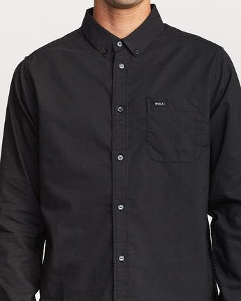 That'll Do Stretch Long Sleeve Button-Up (Black)