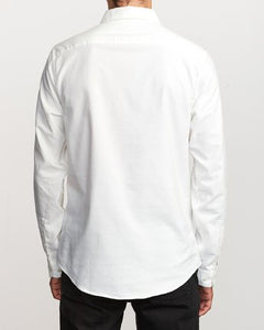 That'll Do Stretch Long Sleeve Button-Up (White)