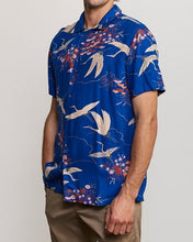 Load image into Gallery viewer, Blue Crane Button-Up (Blue)