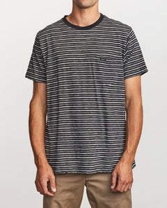 Foz Striped Crew Knit Tee (Black)