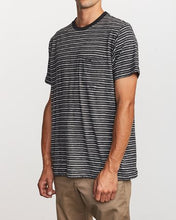 Load image into Gallery viewer, Foz Striped Crew Knit Tee (Black)