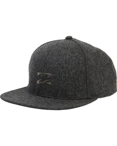 All Day Heather Snapback Hat (Black Heather)