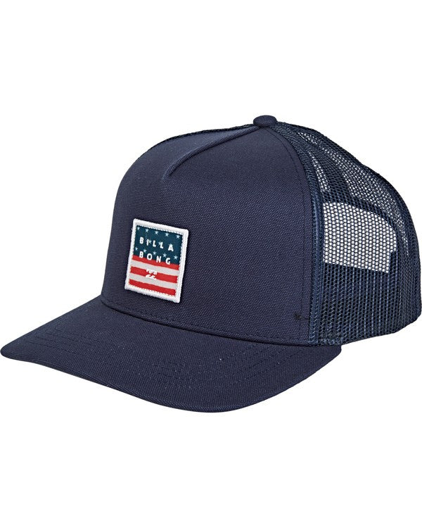 Stacked Trucker (Red/Blue)