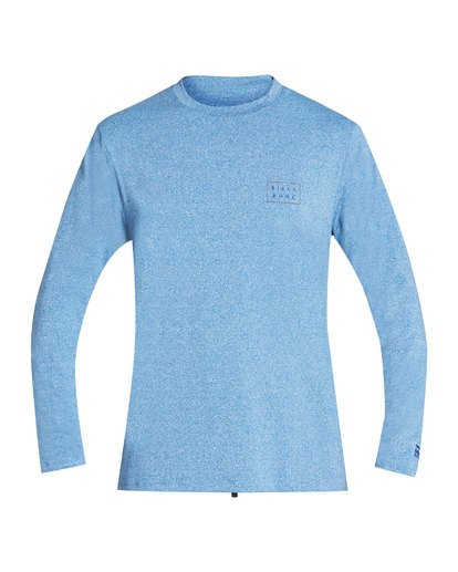 Die Cut Loose Fit Long Sleeve Rashguard (Royal Heather)