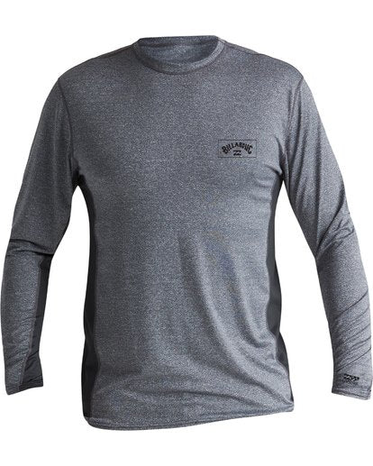 Arch Mesh Loose Fit Long Sleeve Surf Shirt (Grey Heather)