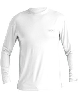 Arch Mesh Loose Fit Long Sleeve Rashguard (White)