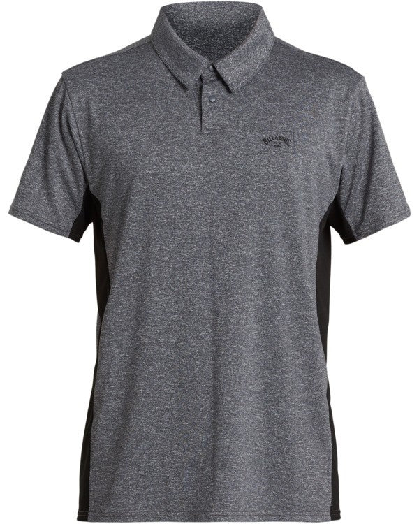 Arch Loose Fit Mesh Polo SS (Grey Heather)