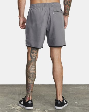 "Yogger IV Recycled 17"" Workout Short (Smoke)"