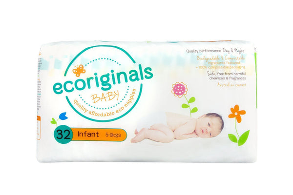 Infant biodegradable nappies