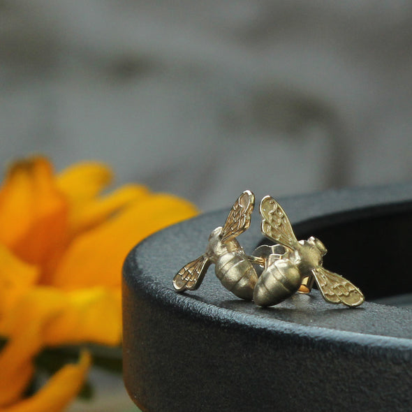 Gold Tiny Scilly bee studs