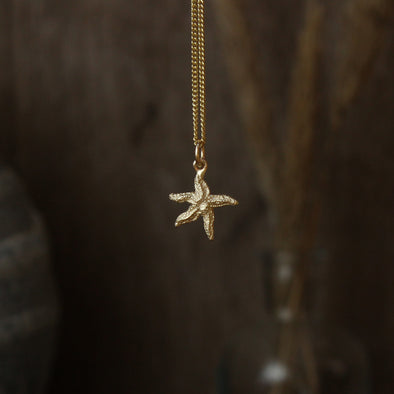 Tiny Scilly starfish - solid 9ct gold version