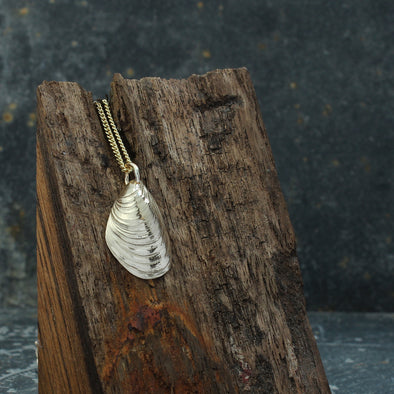 Agnes mussel - solid 9ct gold version