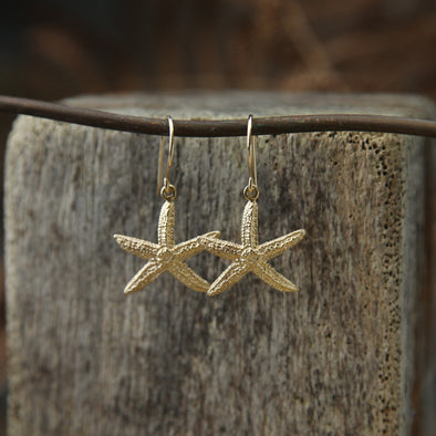 Small starfish hooks - gold
