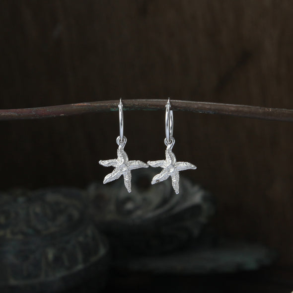 Tiny starfish hoops