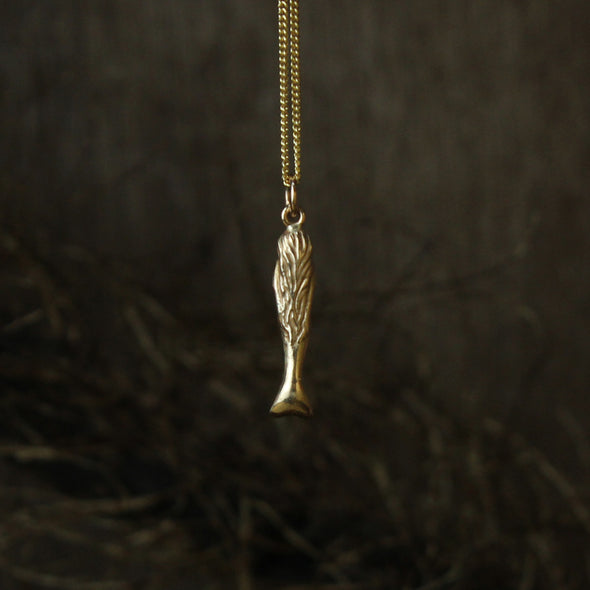 Mini mermaid - solid 9ct gold version