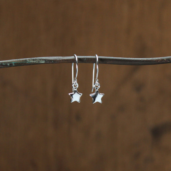 Solid silver star hooks