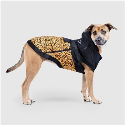 large leopard print dog jacket