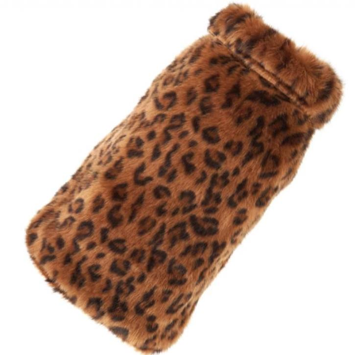 leopard fur dog coat