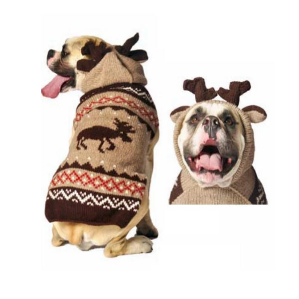 moose hoodie dog sweater