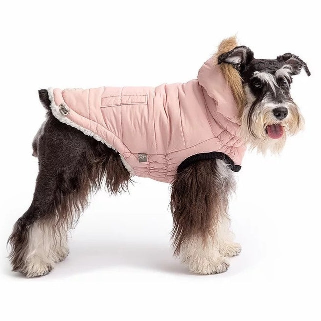 Pink Winter Dog Coat with Hood