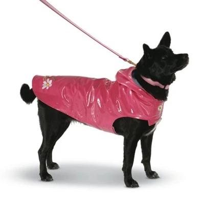 Pink waterproof dog coat