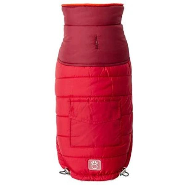 Scout sherpa lined dog coat Red