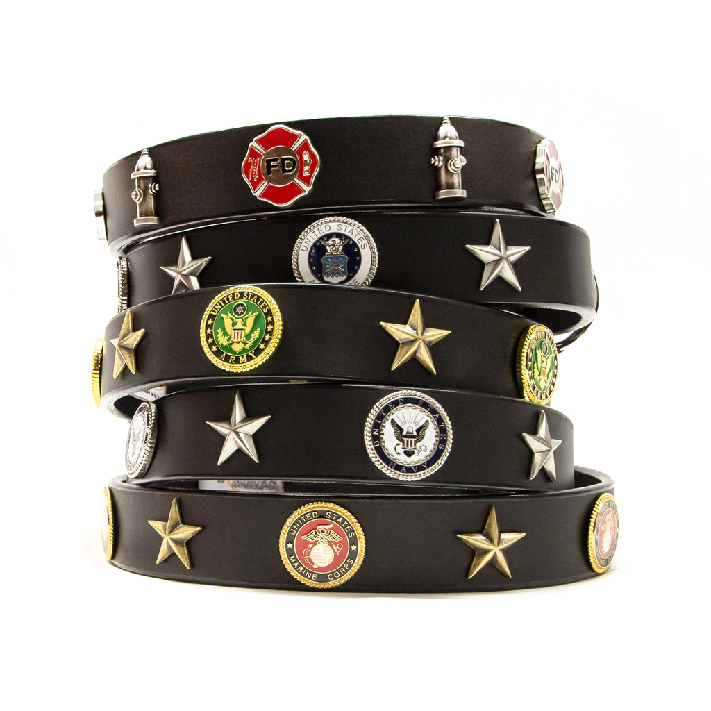 Armed Forces Leather Dog Collars