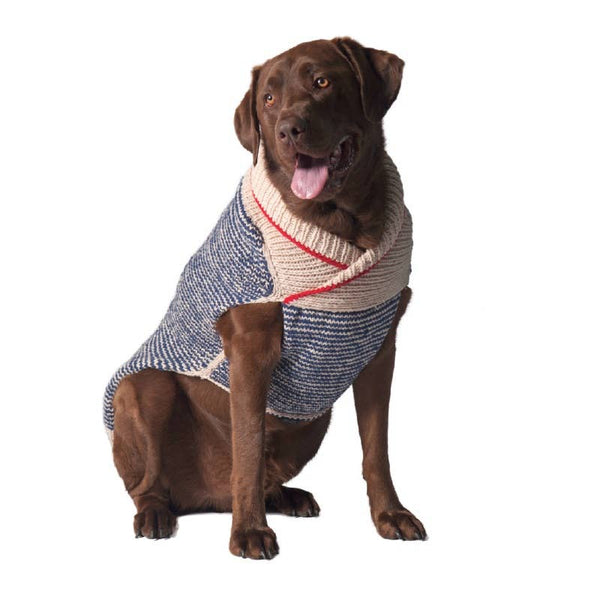 Shawl collar dog sweater