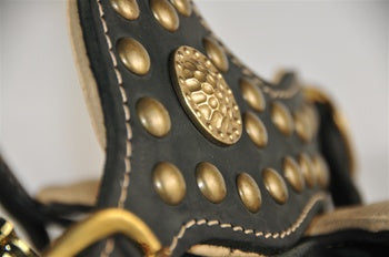studded leather large dog harness