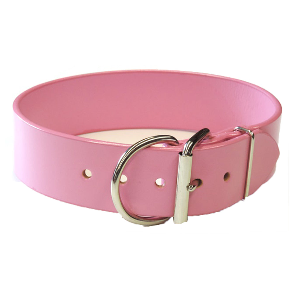 pink wide dog collars