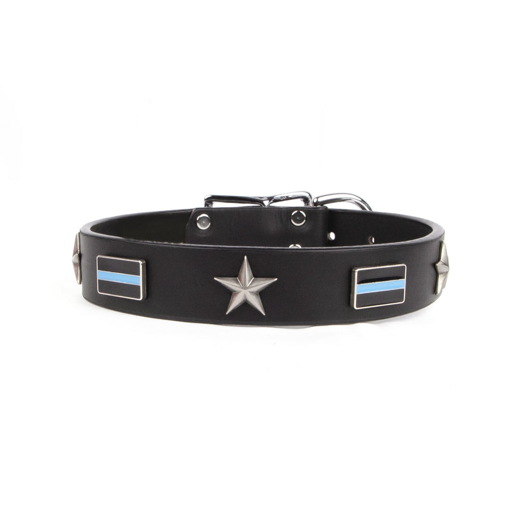police blue line dog collar