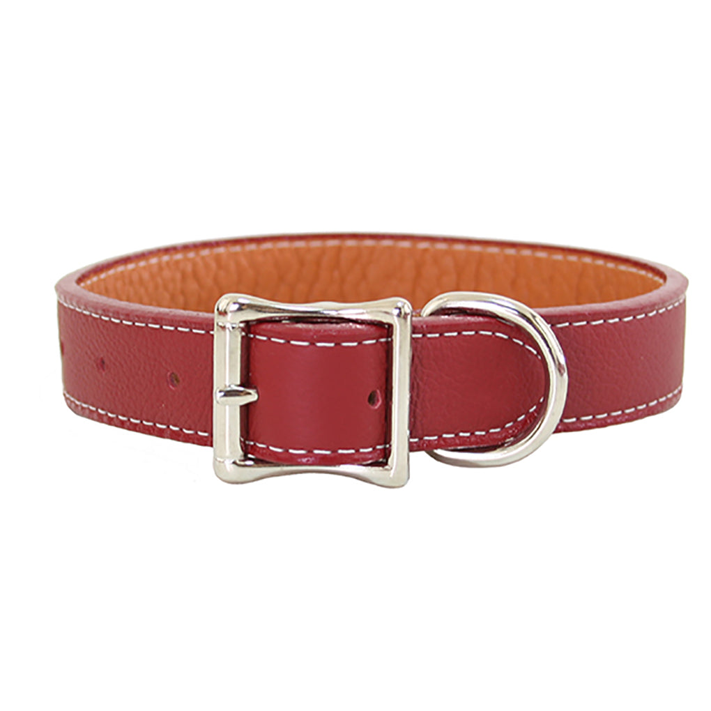 red leather dog collars